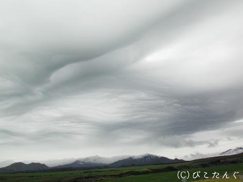 中標津町 開陽台と雲のアート
